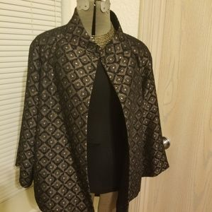 Black and Gold Swing Jacket